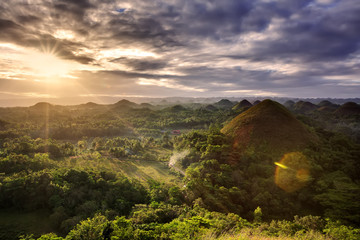 Foto auf Acrylglas Hugel Spectacular look at the chocolate hills, Bohol, Philippines