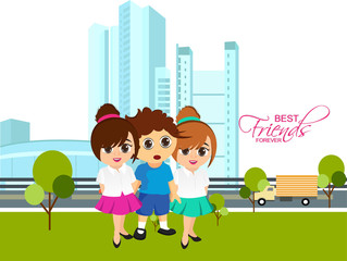 nice and beautiful abstarct or poster for Friendship Day or Best Friends Forever with nice and creative design illustration.