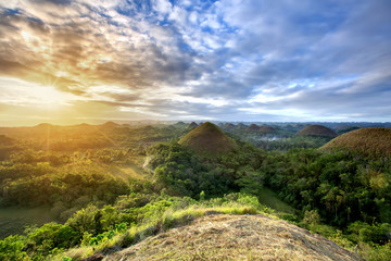 Canvas Prints Hill Spectacular look at the chocolate hills, Bohol, Philippines