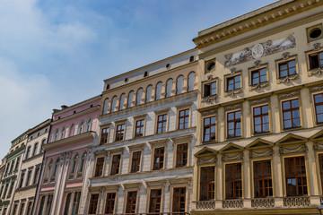 Immeubles sur la place Rynek Głowny