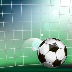 Illustration of soccer ball in the soccer gate
