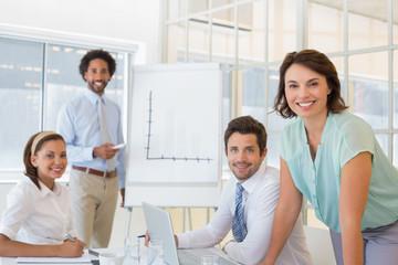 Business people in boardroom meeting