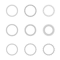 Set of ground decorative frames. Vector illustration.