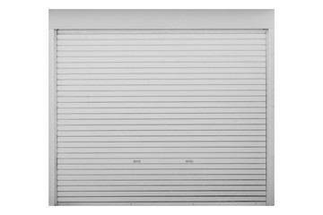white metal door shutter door isolated on white background