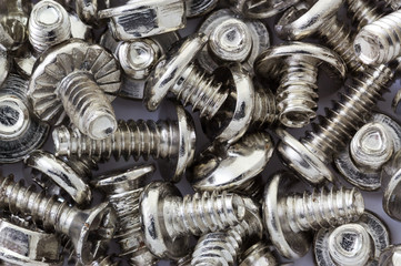 Industrial background of new metalic screws