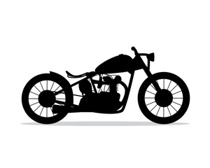 motorcycle silhouette design illustration, silhouette style design, designed for icon and animation