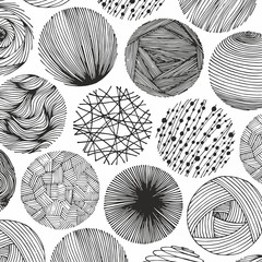 Vector abstract pattern with circles