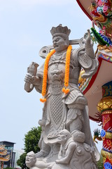 Chinese art shrine in Thailand. It is the worship of people in Chonburi, Thailand. Chinese sculpture Made of stone decorated inside the shrine area. Chinese dragon statue Chinese decoration According