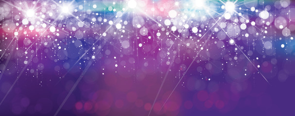 Vector violet lights background. Holiday background.