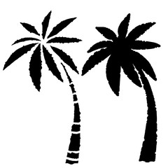 Coconut palm trees icons set