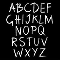 Hand drawn watercolor alphabet, font, letters