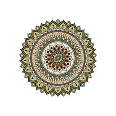 Flower Mandala. Oriental pattern, vector illustration. Islam, Arabic, Indian, moroccan,spain, turkish, pakistan, chinese, mystic, ottoman motifs.