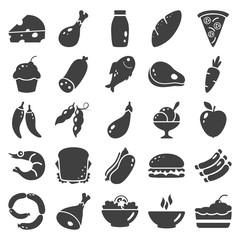 Set food simple basic icons