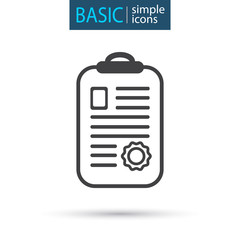 medical document simple line icon