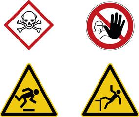 Gefahr Hinweis Schild Baustelle  - Risiko Warnschild