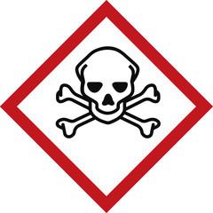 giftig, kontaminiert - Warnschild - Baustelle Schild