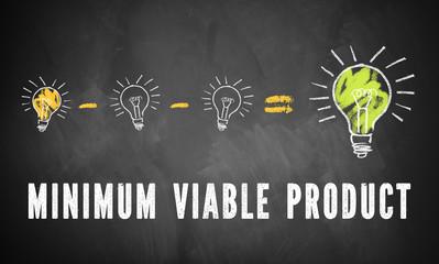 """Entfernung von Ideen führt zu besserer Idee und Slogan """"Minimum Viable Product"""""""