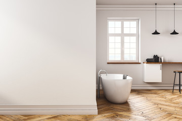 Contemporary bathroom with copyspace