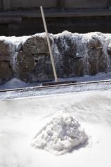 Salt collected in salt pans
