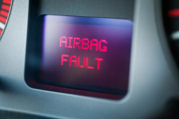 Car airbag fault