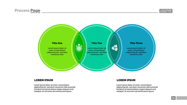Three circles process chart template