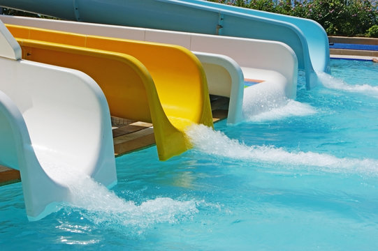water slides at the water park