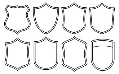 Badge Outline Shape Set