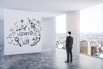 Leadership, success and entrepreneurship concept