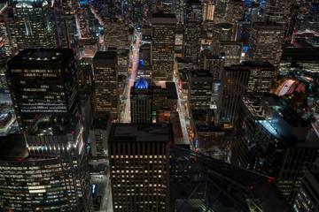 Cental shot of City at night