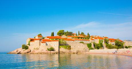 Sveti Stefan island on Budva Riviera in Montenegro