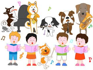子どもたちとペットのコンサート