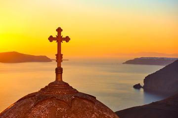 Santorini at sundown