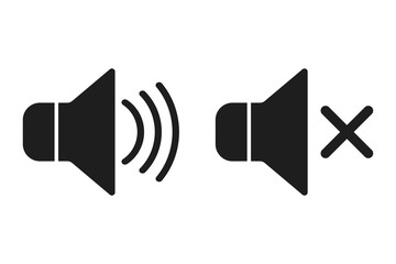 Sound icons.  Vector.