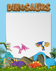 A Various Dinosaurs Planet Template