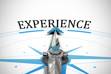 The word experience against compass