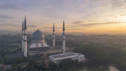Wall Murals Nasa Aerial Photo - Sunrise at a mosque