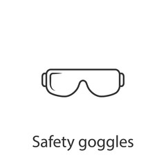 Safety glasses icon. Simple element illustration. Safety glasses symbol design from Construction collection set. Can be used in web and mobile
