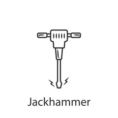 Jackhammer icon. Simple element illustration. Jackhammer symbol design from Construction collection set. Can be used in web and mobile