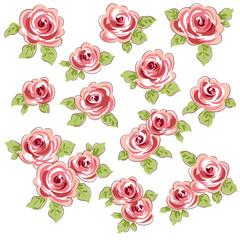 幾何的な薔薇素材