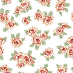 抽象的な薔薇柄