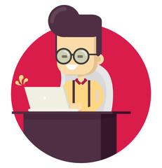 Geek in computer