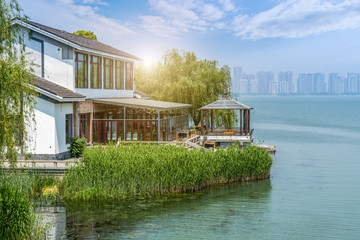 Lake landscape of Jinji Lake Li Gong di