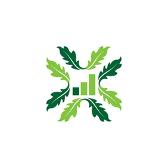 business Oak leaf vector logo isolated. Logo templates.