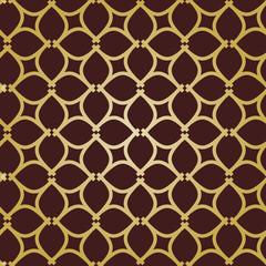 Seamless vector ornament. Modern background. Geometric modern golden pattern