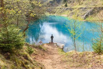blauer See bei Rübeland im Harz