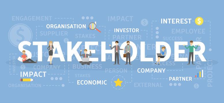 Stakeholder concept illustration.