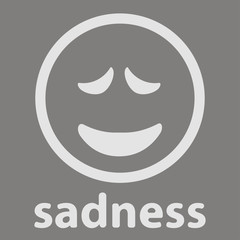 Sadness grey smile