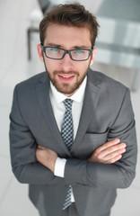 closeup.confident businessman.business concept