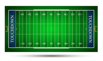 detailed illustration of an American Football fields, eps10 vector