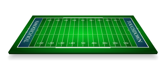 detailed illustration of an American Football fields with perspective, eps10 vector